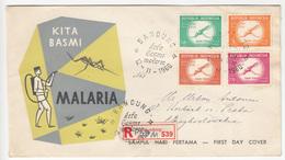 Indonesia, Kita Basmi Malaria FDC 1960 Registered Bandung Travelled B180103 - Indonesia