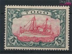 Togo (Dt. Kolonie) 23II A Mit Falz 1919 Schiff Kaiseryacht Hohenzollern (9120191 - Kolonie: Togo