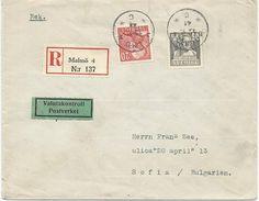 LETTRE RECOMMANDEE 1941 A DESTINATION DE LA BULGARIE - Lettres & Documents