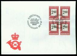 FD Dänemark FDC 1987 - MiNr 890 Viererblock - 40 Jahre Verbraucherberatung - FDC