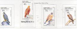 PIA  -  CIPRO  TURCA  -  1997  : Giornata Internazionale Dell' Ambiente : Uccelli Rapaci -  (Yv 419-22) - Cipro (Turchia)