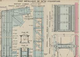 1937 Ecole Spéciale Des Travaux Publics Pont Métallique Sur Route. Document Impeccable. 4 Scans - Public Works