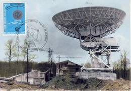 Lessive Antenne Parabolique Inhuldiging Grondstation Voorafstempeling Kortrijk Préobliteré 1972 - Astronomie