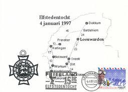 D32173 CARTE MAXIMUM CARD FD 1997 NETHERLANDS - FRIESLAND 11 CITIES SPEED SKATING CP ORIGINAL - Winter (Other)