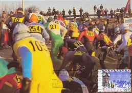 D32175 CARTE MAXIMUM CARD FD 1997 NETHERLANDS - FRIESLAND 11 CITIES SPEED SKATING KLÛNEN CP ORIGINAL - Winter (Other)