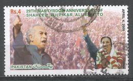 Pakistan 2008. Scott #1102 (U) President Zulfikar Ali Bhutto (1928-79) And Prime Minister Benazir Bhutto (1953-2007) - Pakistan