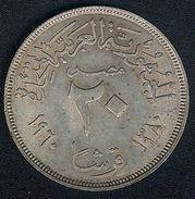 Ägypten, 20 Piastres 1960, Silber, XF - Egypt