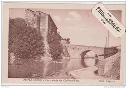 81 Puylaurens - Cpa / Les Ruines Du Château-Fort. - Puylaurens