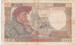 50 Francs  France 1941 - 1871-1952 Anciens Francs Circulés Au XXème