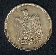 Ägypten, 10 Piastres 1960, Silber, AUNC - Egypt
