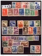 BULGARIA \ BULGARIE - 1948 - Anne Complete ** Yv No 570/607 + PA 52/55 - Années Complètes