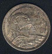 Ägypten, 10 Piastres 1957, Sphinx, Silber, XF - Egypt