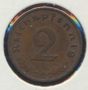 Deutsches Reich Jägernr: 362 1936 A Sehr Schön Bronze 1936 2 Reichspfennig Reichsadler (7869082 - [ 4] 1933-1945 : Third Reich