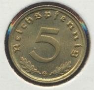 Deutsches Reich Jägernr: 363 1939 G Vorzüglich Aluminium-Bronze 1939 5 Reichspfennig Reichsadler (7869074 - [ 4] 1933-1945 : Troisième Reich