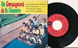 """Super 45 T, LES COMPAGNONS DE LA CHANSON, """"Bras Dessus, Bras Dessous, Verte Campagne, L'arlequin..."""", Columbia ESRF 1275 - Sonstige - Franz. Chansons"""