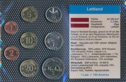 Lettland Stgl./unzirkuliert Kursmünzen Stgl./unzirkuliert 1992-2009 1 Santims Bis 2 Lati (9030252 - Lettland