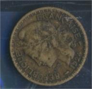 Togo 2 1924 Sehr Schön Aluminium-Bronze 1924 1 Franc Laureate (8977189 - Togo