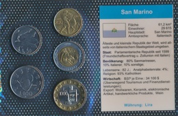 San Marino Stgl./unzirkuliert Kursmünzen Stgl./unzirkuliert 1972-2001 50 Lire Bis 1.000 Lire (9031368 - San Marino