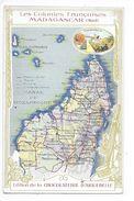 LES COLONIES FRANCAISES - 2 Chromos MADAGASCAR Nord Et Sud - Chocolaterie D'Aiguebelle -   -  L 1 - Fiches Illustrées