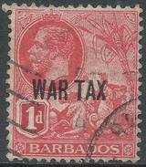 Barbados. 1917-18 War Tax. 1d Used. SG 197 - Barbados (...-1966)