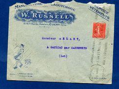 Enveloppe  Manufacture W Russel Clichy à Allart Sauliac Cabrerets  1 Timbre YT 199   Dossier 1er Jour 6 - 1921-1960: Periodo Moderno