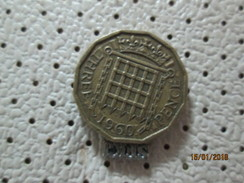 GREAT BRITAIN 3 Pence 1960 # 1 - 1902-1971 : Post-Victorian Coins