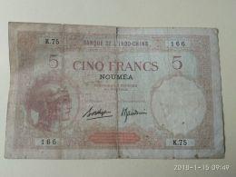 5 Francs 1941 Noumea - Indocina