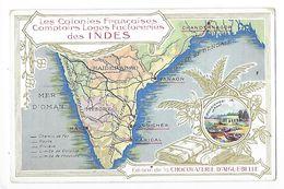 LES COLONIES FRANCAISES - Comptoirs, Loges Factoreries Des INDES - Chocolaterie D'Aiguebelle -   -  L 1 - Picture Cards