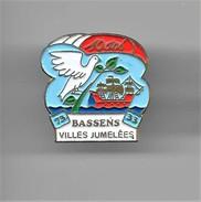 PINS   BASSENS 73 SAVOIE  33 GIRONDE 10 Ans Villes Jumelées  / Comombe Et Voilier / 33NAT - Swimming
