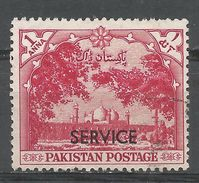 Pakistan 1954. Scott #O46 (U) Badshahi Mosque, Lahore - Pakistan