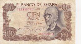 100 Pesetas Espagne 1970 - [ 3] 1936-1975 : Regency Of Franco