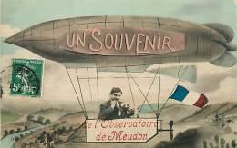 AVIATION DIRIGEABLE - UN SOUVENIR DE L'OBSERVATOIRE DE MEUDON  N° 312816 - Dirigeables