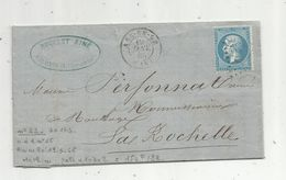 Lettre, 1865 , ARS EN RE ,île De Ré , Roullet Ainé - 1849-1876: Classic Period
