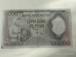 5000 Rupiah 1958 - Indonésie