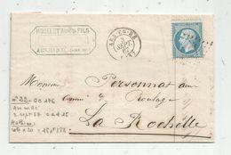 Lettre, 1867 , ARS EN RE ,île De Ré , LA ROCHELLE , Roullet Ainé , 2 Scans - 1849-1876: Classic Period