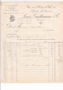 ANNEE 1884 / LYON / COLS CRAVATES FOULARDS .. / LOUIS GUILHAUME / 29 RUE HOTEL DE VILLE - Textile & Vestimentaire