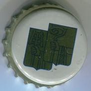 CAPSULE-BIERE-BEL-BRASSERIE HOEGAARDEN DE KLUIS Dessin Fond Or & Bleu - Beer