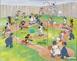 Grenada Block159 (kompl.Ausg.) Postfrisch 1986 Walt-Disney-Figuren Beim Baseball - Grenada (1974-...)