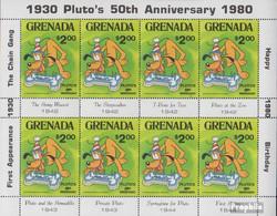Grenada 1076 Kleinbogen (kompl.Ausg.) Postfrisch 1981 Walt-Disneys Pluto - Grenada (1974-...)