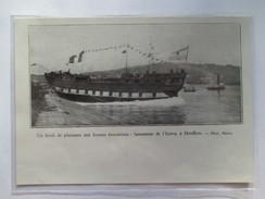 1930 -  HONFLEUR - Lancement Du BRICK Goelette IZARRA     - Coupure De Presse Originale (Encart Photo) - Documenti Storici