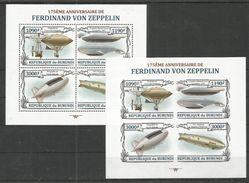 BURUNDI - MNH - Transport - Airships - Zeppelin - Perf. + Imperf. - Airships
