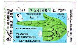 Billet Loterie Belgique, Tranche Du Printemps  1972 - Billets De Loterie