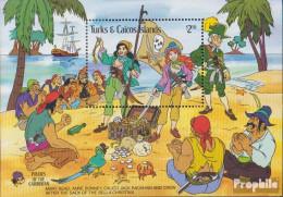 Turks- Und Caicos-Inseln Block63 (kompl.Ausg.) Postfrisch 1985 Walt-Disney-Figuren - Turks And Caicos