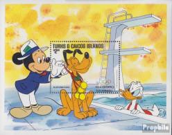 Turks- Und Caicos-Inseln Block47II (kompl.Ausg.) Postfrisch 1984 Walt-Disney-Figuren - Turks And Caicos