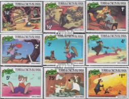 Turks- Und Caicos-Inseln 554-562 (kompl.Ausg.) Postfrisch 1981 Weihnachten: Walt-Disney-Figuren - Turks And Caicos