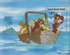 Turks- Und Caicos-Inseln Block30 (kompl.Ausg.) Postfrisch 1981 Ostern: Walt-Disney-Figuren - Turks And Caicos