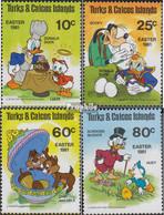 Turks- Und Caicos-Inseln 532-535 (kompl.Ausg.) Postfrisch 1981 Ostern: Walt-Disney-Figuren - Turks And Caicos