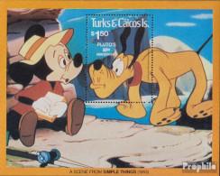 Turks- Und Caicos-Inseln Block28 (kompl.Ausg.) Postfrisch 1981 Walt-Disney-Figur Pluto - Turks And Caicos