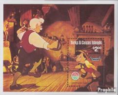 Turks- Und Caicos-Inseln Block25 (kompl.Ausg.) Postfrisch 1980 Weihnachten: Pinocchio - Turks And Caicos