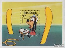 Turks- Und Caicos-Inseln Block19 (kompl.Ausg.) Postfrisch 1979 Walt-Disney-Figuren - Turks And Caicos